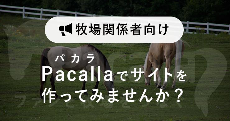 Pacallaでサイトを作ってみませんか?